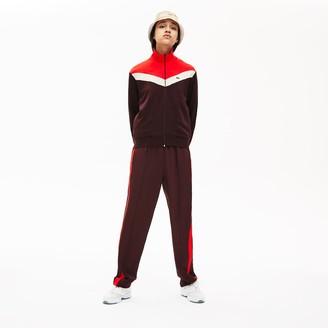 Lacoste Womens Color-Block Fleece Zip Up Sweatshirt