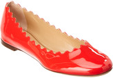 Chloé Lauren Scalloped Patent Ballerina Flat