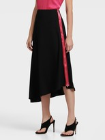 DKNY Asymmetrical Skirt With Exposed Zip