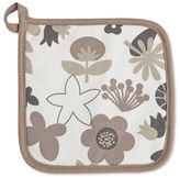 ZICZAC Floral Potholder in Taupe (Set of 2)