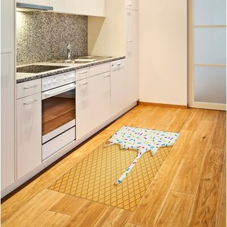"East Urban Home Melting Ice Cream Cones Colored Sprinkles Yellow Area Rug East Urban Home Rug Size: Rectangle 2'7"" x 5'"
