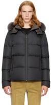 Fendi Reversible Navy and Grey Down bag Bugs Jacket