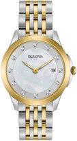 Bulova Women's Diamond Two Tone Stainless Steel Watch
