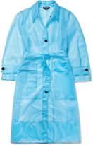 Calvin Klein Oversized Matte-pu Trench Coat - Blue