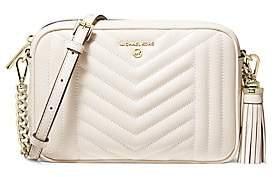 MICHAEL Michael Kors Women's Medium Jet Set Charm Leather Camera Bag