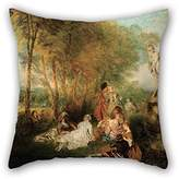 NICEPLW Pillowcover Of Oil Painting Antoine Watteau - The Feast Of Love For Deck Chair Birthday Kids Girls Boys Deck Chair(twice Sides)