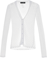 Dolce & Gabbana Lace-knit V-neck cardigan