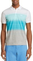 BOSS GREEN Paddy Color Block Stripe Regular Fit Polo Shirt