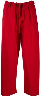 Comme des Garcons Drawstring Cropped Trousers