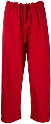 COMME DES GARÇONS GIRL Drawstring Cropped Trousers