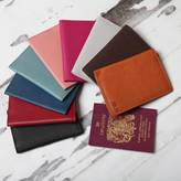 NV London Calcutta Personalised Leather Passport Holder