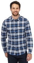 Lee Navy And Blue Checked Print Shirt