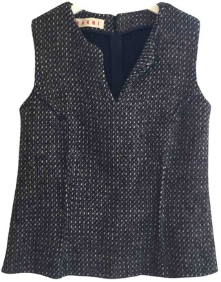 Marni Anthracite Wool Tops