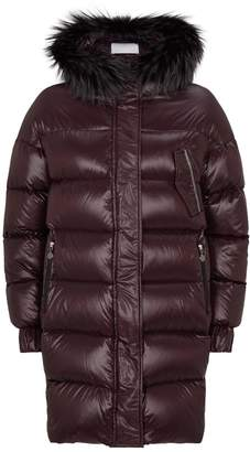 Fabiana Filippi Fur Trim Down Coat