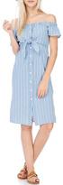 Everly Pin Stripped Demin Dress