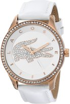 Lacoste Women's 2000821 Victoria Rose Gold-Tone Stainless Steel Watch with Leather Band
