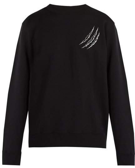 Marcelo Burlon County of Milan Printed Cotton Sweatshirt - Mens - Black