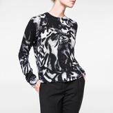 Paul Smith Women's Merino Wool Cardigan With 'Animal' Print
