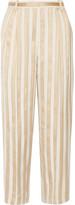 The Row Striped Jacquard Straight-Leg Pants