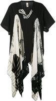 Antonio Marras draped insert T-shirt - women - Cotton/Viscose/Polyester/Acetate - 1