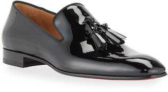 Christian Louboutin Men's Dandelion Patent Leather Tassel Loafers