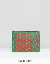 Valery Exclusive Holidays Ho Ho Ho Glitter Clutch Bag