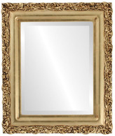 """The Oval And Round Mirror Store Venice Framed Rectangle Mirror in Gold Leaf, 23""""x29"""""""