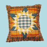 Unknown Pillows Yellow/Multi Cotton Sunflower Pillow 16 '' Square