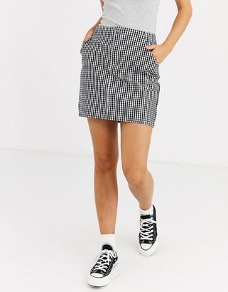 Hollister houndstooth mini skirt