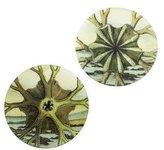 John Derian Pair of Decoupage Shell Plates