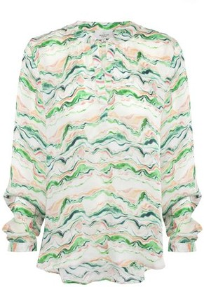 Primrose Park Sandy Wave Open Shirt - Green / XS
