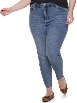 UNIONBAY Juniors' Plus Size High Rise Ankle Skinny Jeans