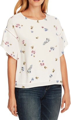 Vince Camuto Romantic Buds Tulip Sleeve Top