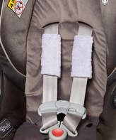 Lavender & Ivory Minky Reversible Strap Cover - Set of Two