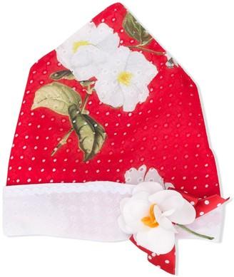 MonnaLisa Perforated Floral Hat