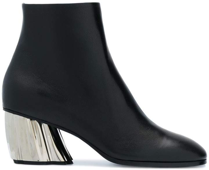 White Pointy Faceted Heeled Boots Proenza Schouler iafoiAS