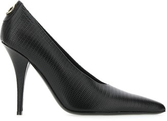 Burberry Stud Detail Embossed Point-Toe Pumps