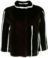 Liska - striped jacket - women - Mink Fur - S