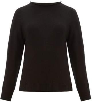 Margaret Howell Rolled Neckline Cotton-blend Sweater - Womens - Black