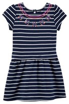 Just One YouMade by Carter's® Girls' Short-sleeve Stripe Dress - Navy