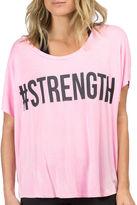 PL MOVEMENT BY PINK LOTUS PL Movement by Pink Lotus Cap-Sleeve Strength Tee