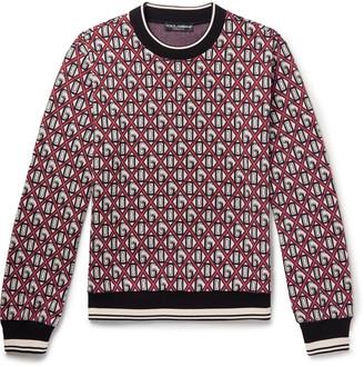 Dolce & Gabbana Cotton-Blend Jacquard Sweater