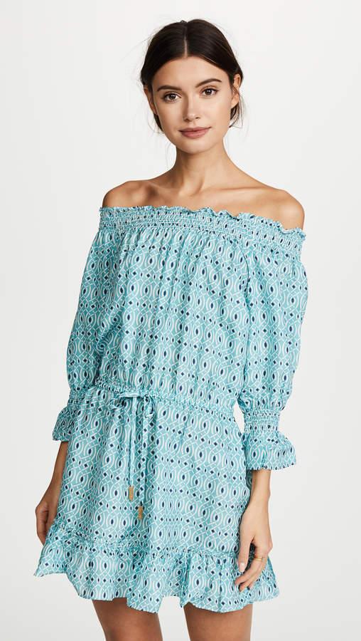 Calypso PALOMA BLUE Off Shoulder Dress