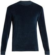 Fanmail Contrast-rib velour sweatshirt