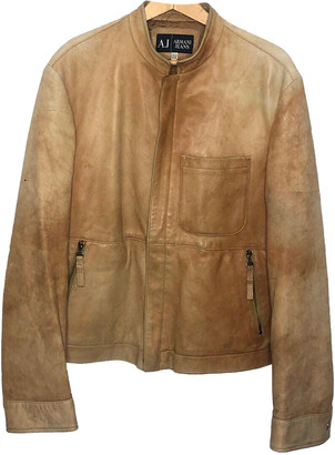 Armani Jeans Brown Leather Jackets