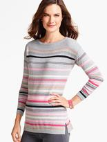 Talbots Festive Stripes Sweater