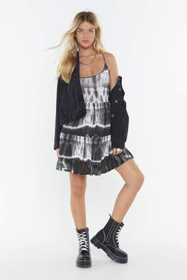 Nasty Gal Low Back Tiered Mini Dress