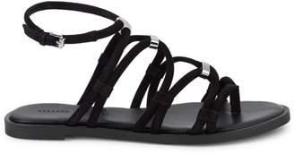 Rebecca Minkoff Sarle Suede-Strap Sandal Flats