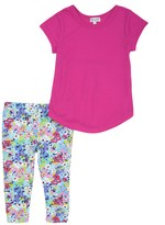 Splendid Little Girl Tee and Printed Legging Set