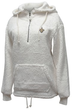 5th & Ocean Women's New Orleans Saints Sherpa Quarter-Zip Pullover